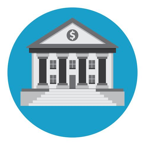 bank building vector icon
