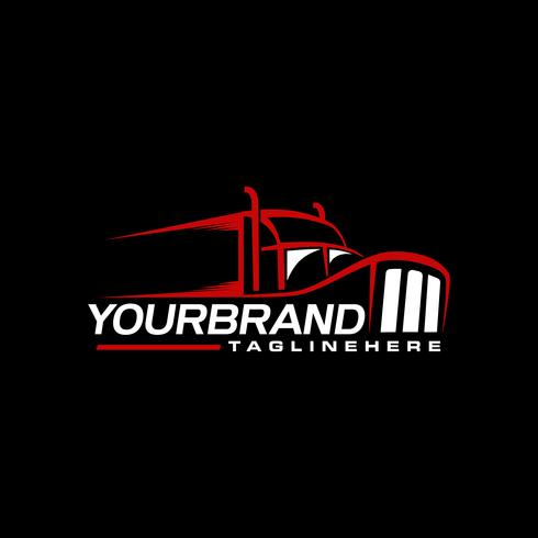 Trucking logo ontwerp branding