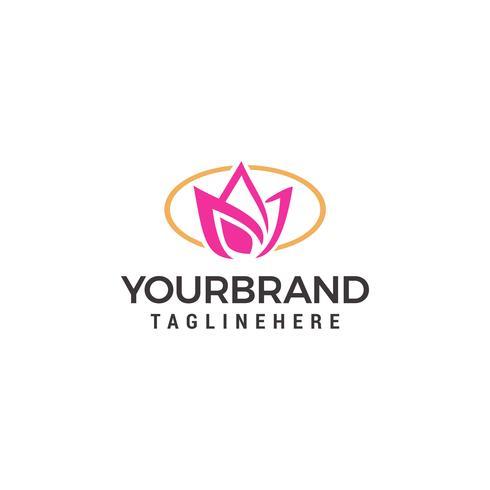 Modello di fiore astratto Logo design vettoriale