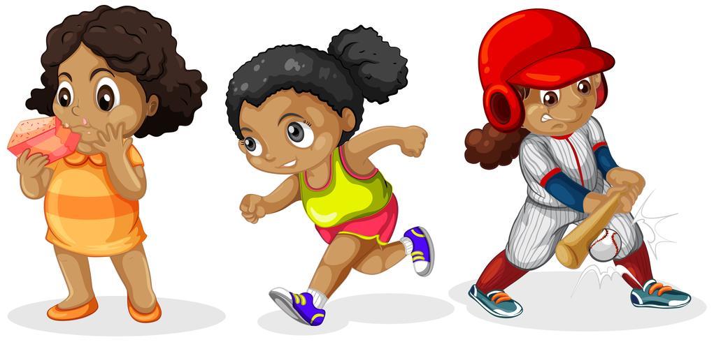 Set di personaggi femminili