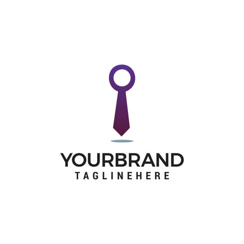 Business Tie Logo template vector