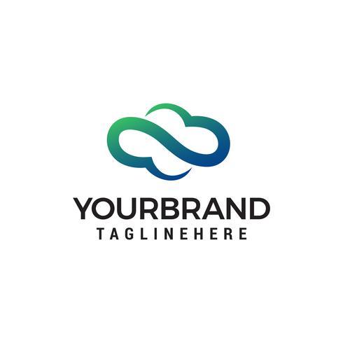 Cloud Computing icono o diseño de logotipo