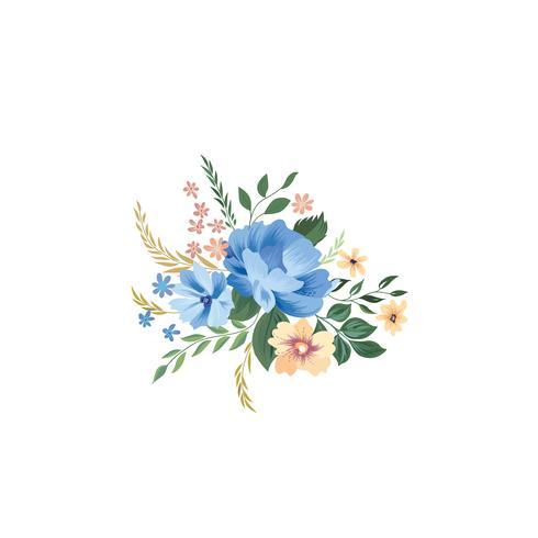 Patrón de marco floral. Fondo del ramo de flores. Tarjeta de felicitación d vector