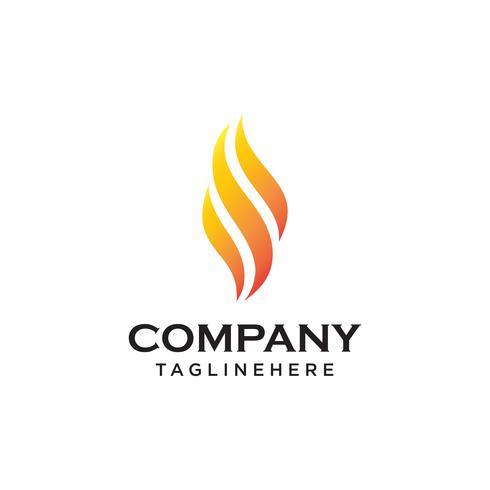 Fire Flame Logo design vektor mall