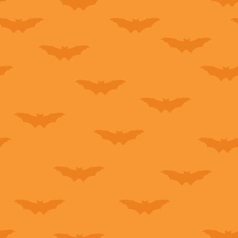 Halloween naadloze patroon. Vakantieachtergrond met vliegende knuppel vector