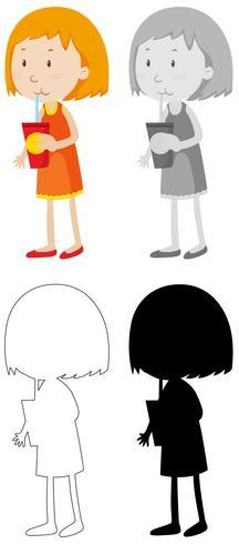 Set of children character vector