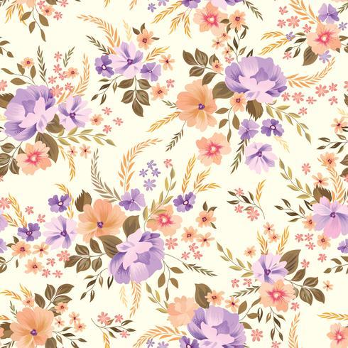 Padrão sem emenda floral. Fundo de flor. Florescer papel de parede jardim com flores.