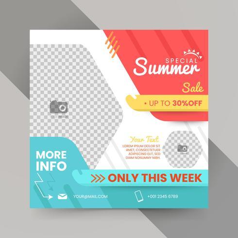 Geometrische Sommer Flyer Vorlage