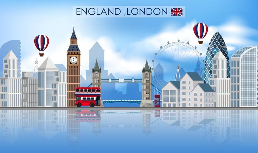 Londres hito sobre fondo blanco