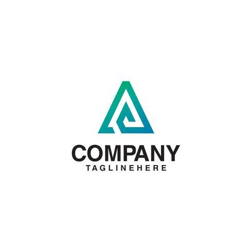 lines elegant letter A logo.