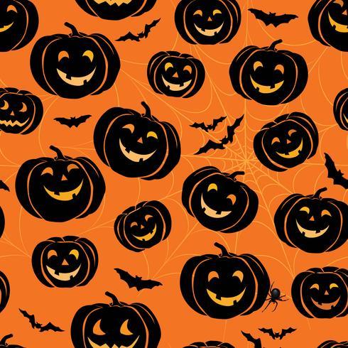 Halloween nahtlose Muster. Feiertagsdekorativer Hintergrund mit b