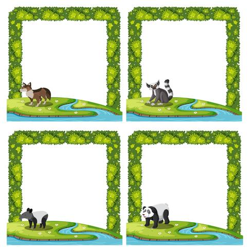 Set van dierlijke frame