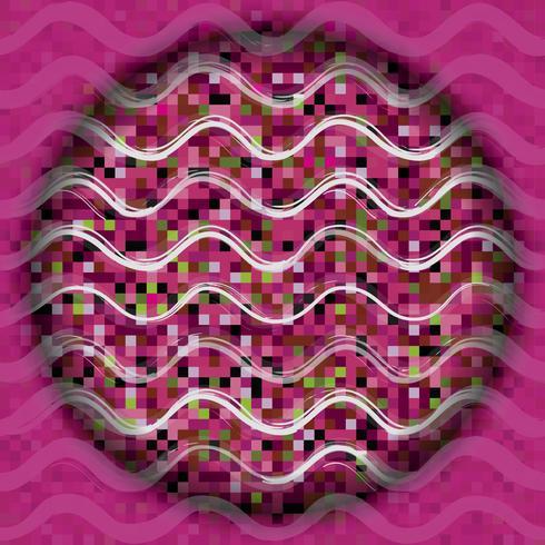 Línea de onda abstracta de patrones sin fisuras. Fondo de círculo de vacaciones. vector
