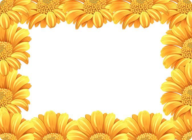 Bordure fleur de marguerite jaune