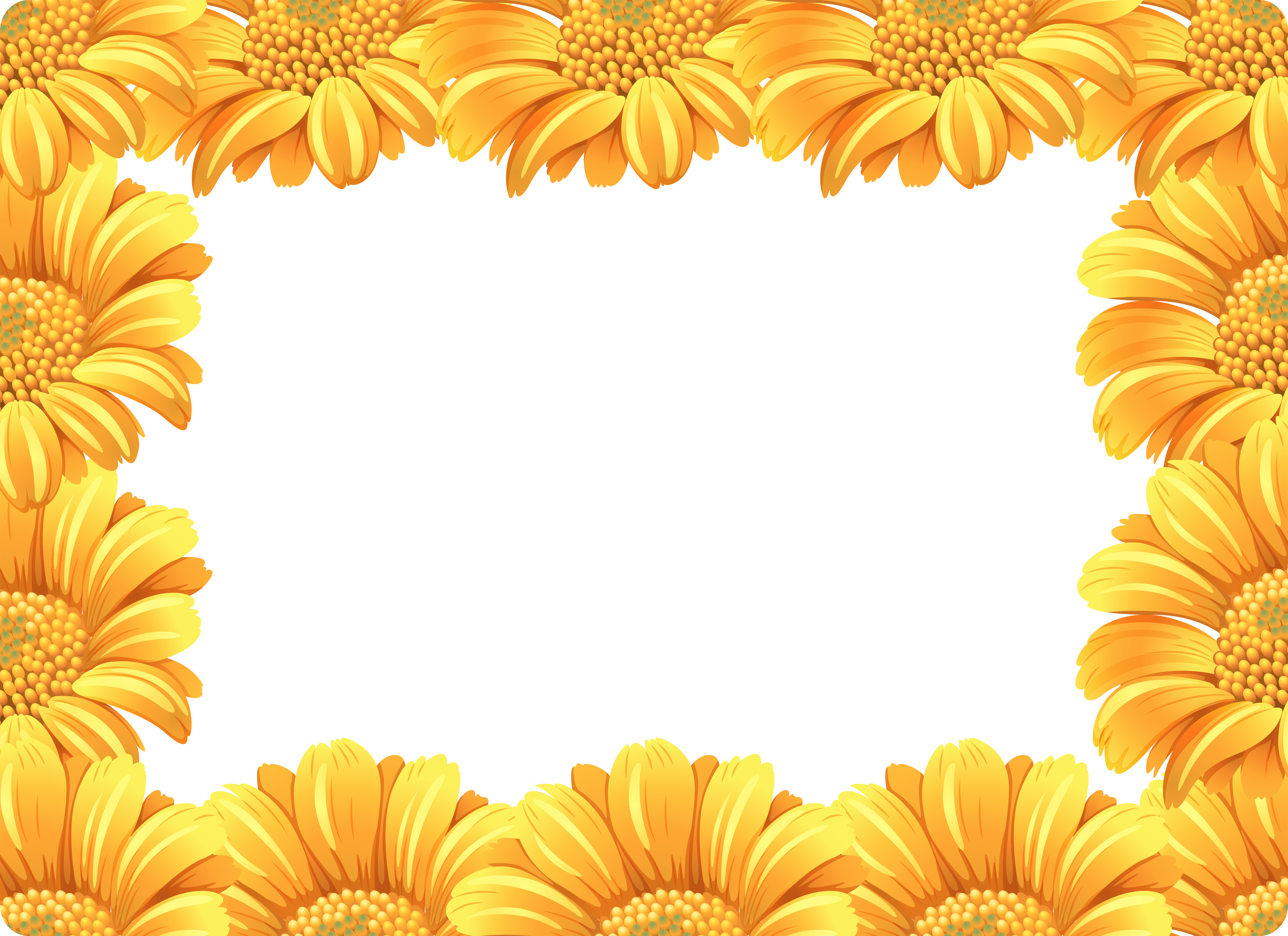 Yellow daisy flower border - Download Free Vectors ...