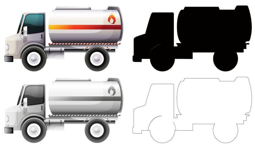 Set of petrol truck