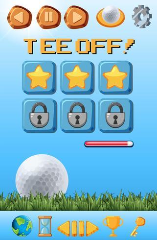 A golf game template vector