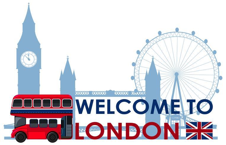Punto di riferimento di Londra su sfondo bianco vettore