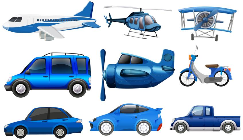 Set of transportation vehicle vector