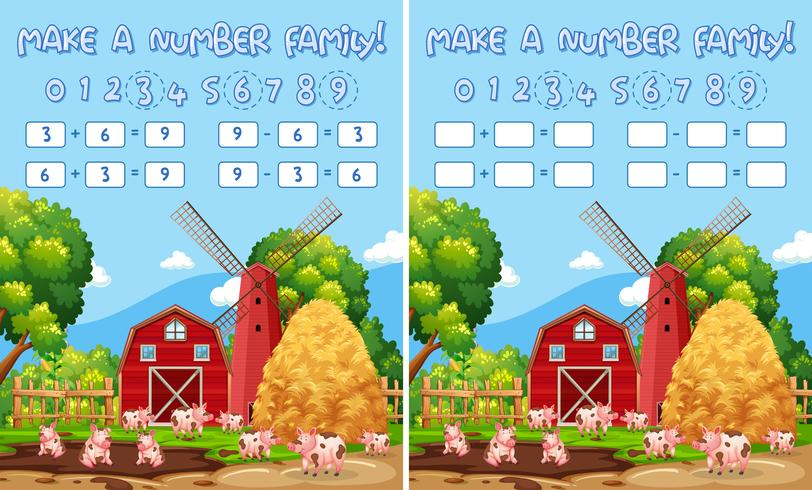 Make a number family vector