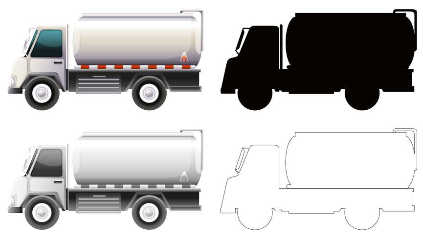 Set van benzine truck