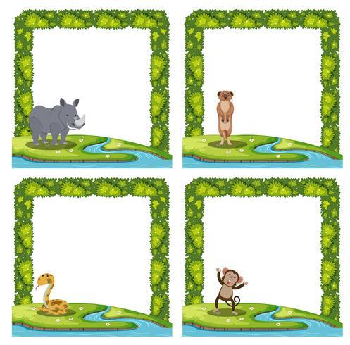 Set of animal frame vector