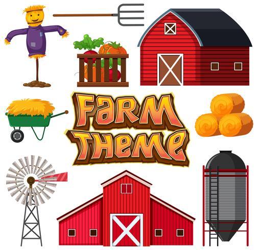 Insieme di elementi della fattoria