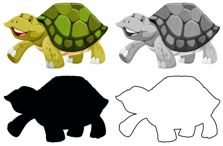 Set of turtle character vector