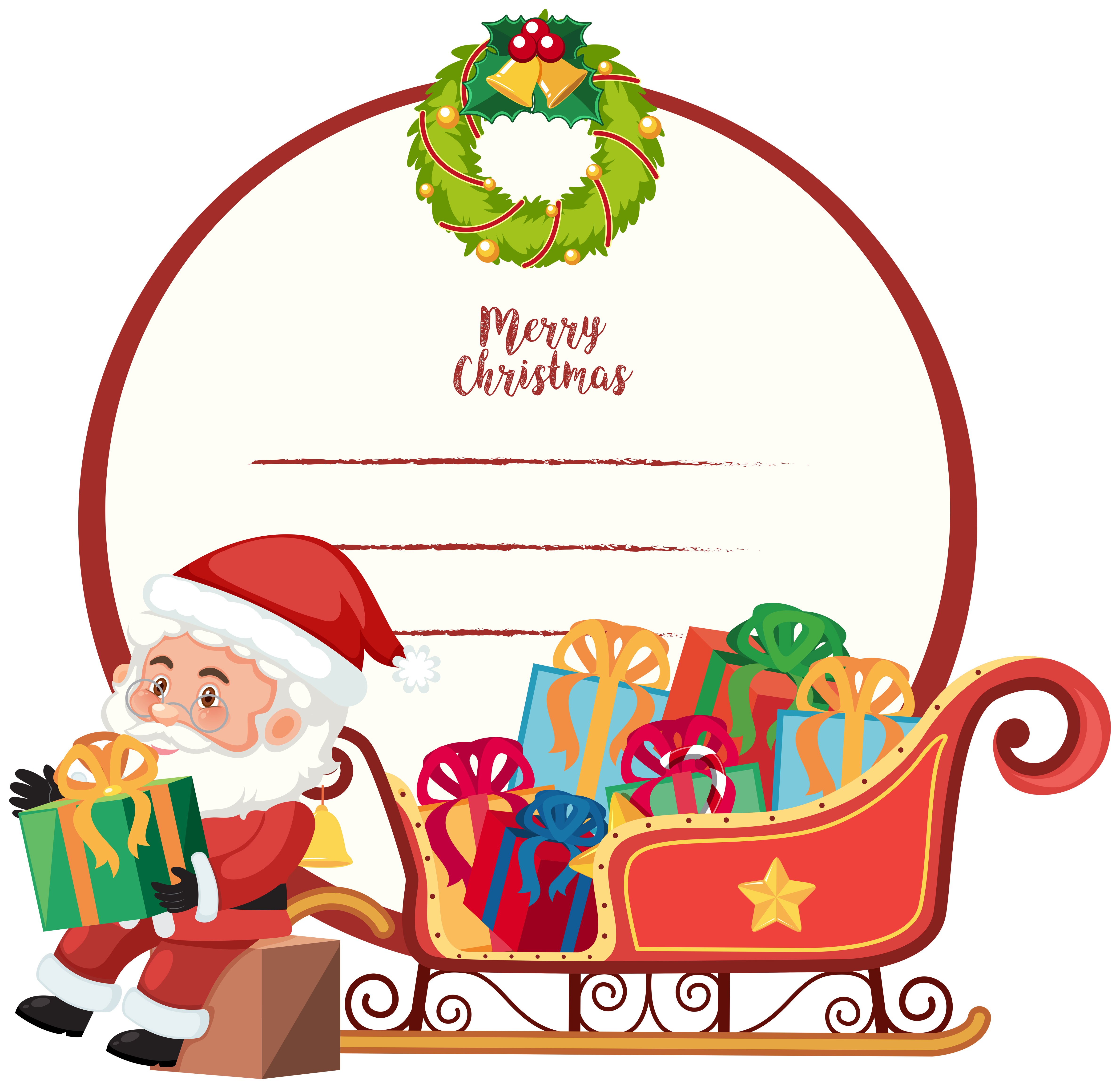 a merry christmas card template 589266  download free