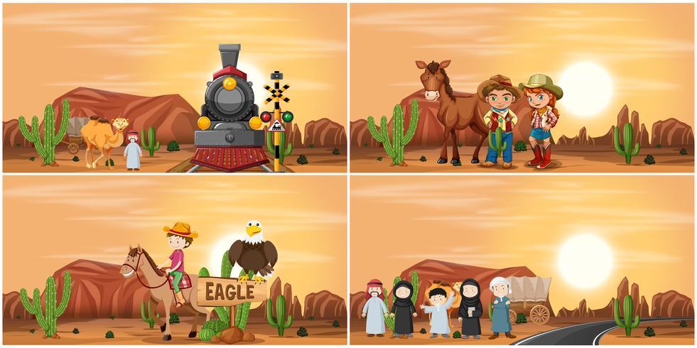 Set di scena del deserto