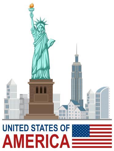 Un conjunto de puntos de referencia de Estados Unidos