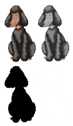 Set of poodle character vector