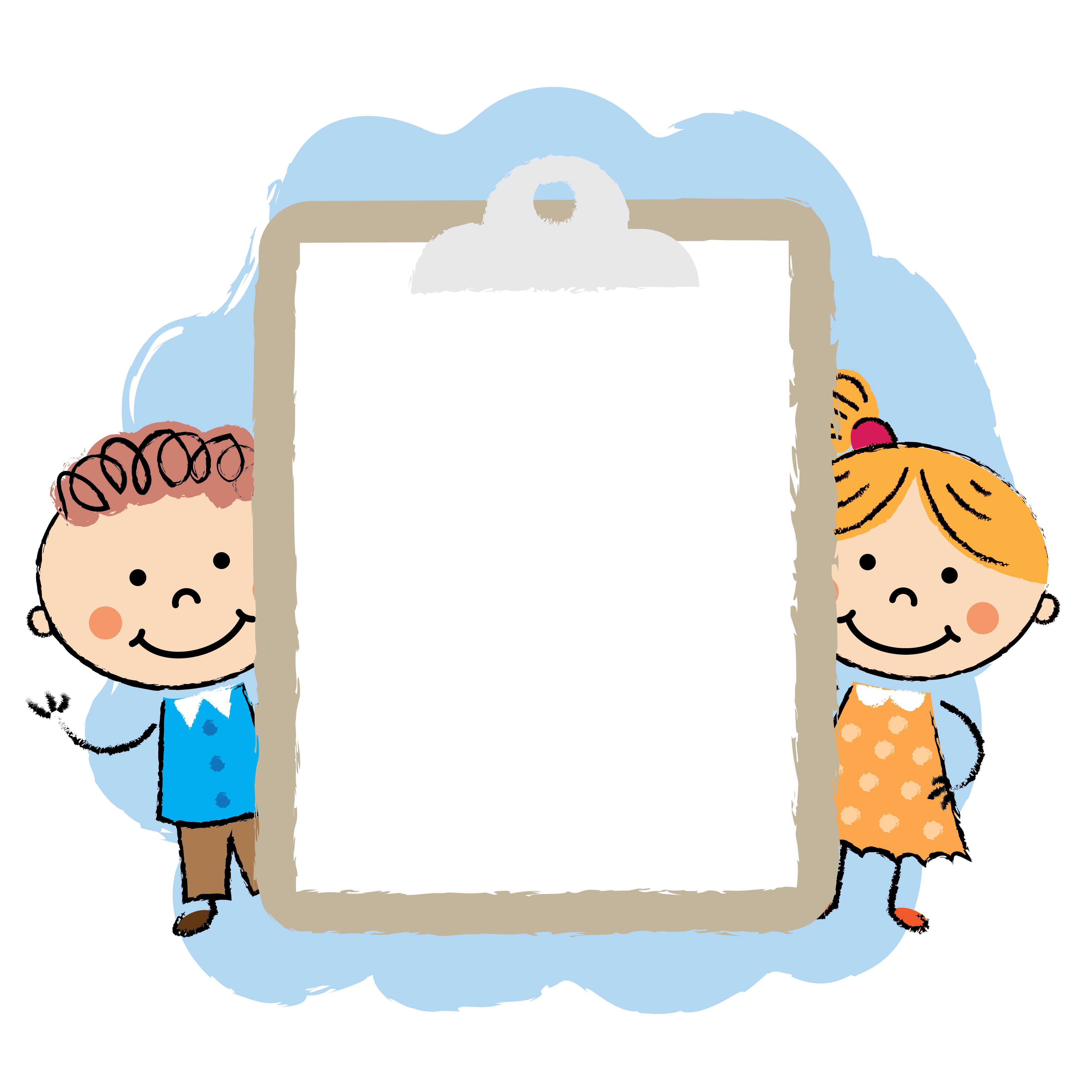 Cute cartoon kids frame - Download Free Vectors, Clipart ...