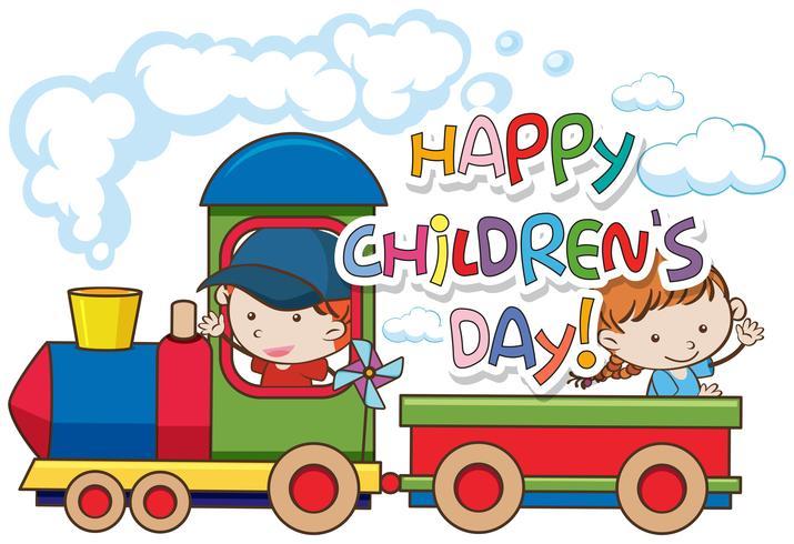Happy children's day template vector