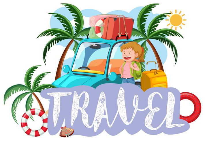A travel icon on white background vector