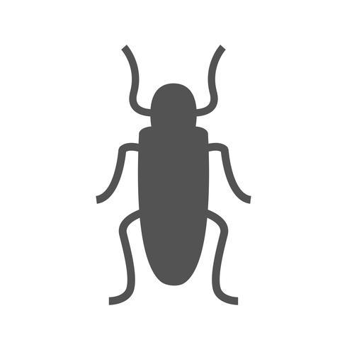 Icône de cafard de vecteur