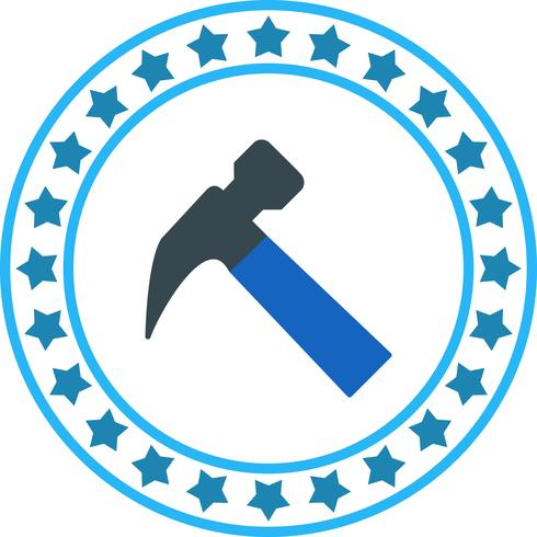 Ícone de martelo de vetor