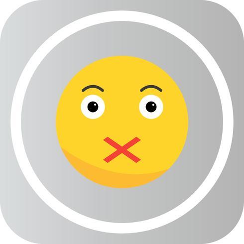 Vector Silent Emoji Icon