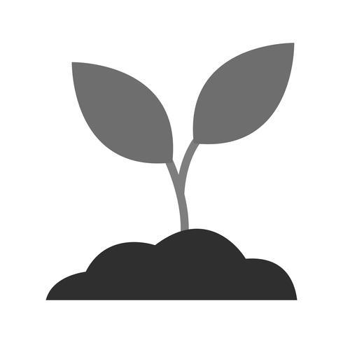 Ícone de planta de solo de vetor