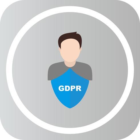 Icona dell'avatar degli uomini di sicurezza di vettore GDPR