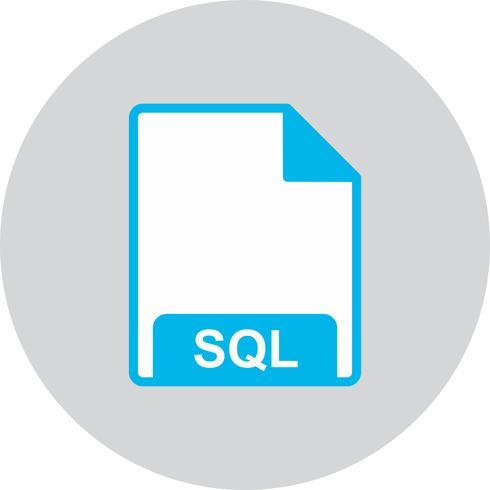 Ícone de vetor SQL