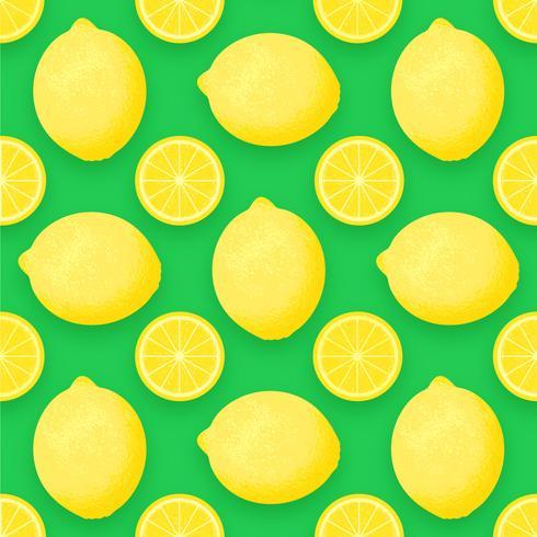 Fruit de citron Vector Background