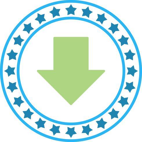 Ícone de seta para baixo do vetor