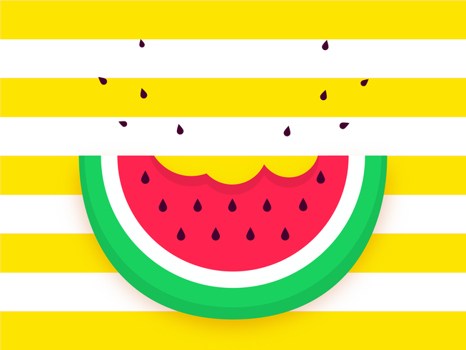 Watermelon Slice Pop Background Vector