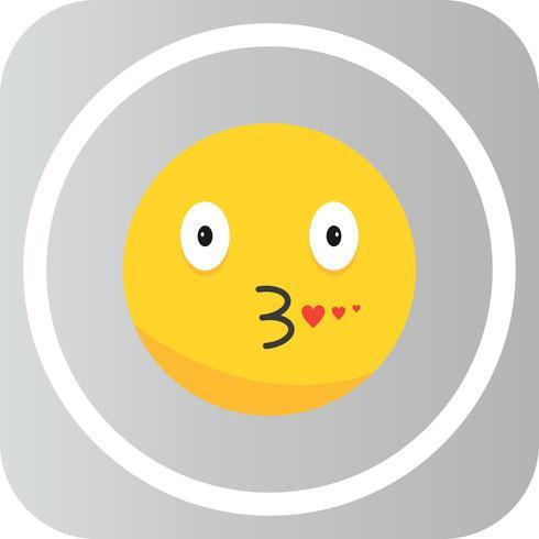 Vektor Kuss Emoji-Symbol