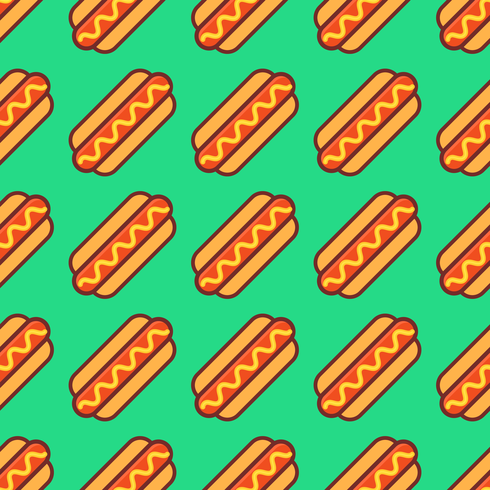 Pop Hotdogs Seamless Pattern Vector