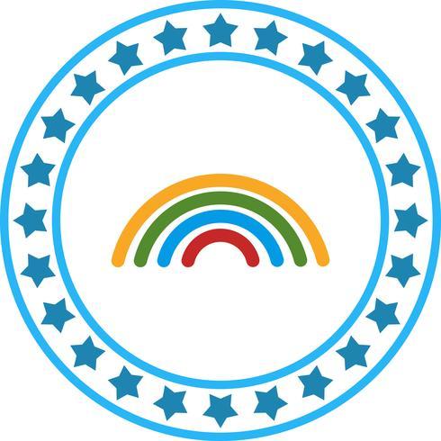 Vector icono de arco iris