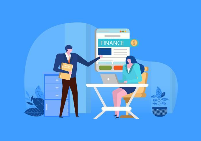 Finansförsäkringskonsulent Flatillustration