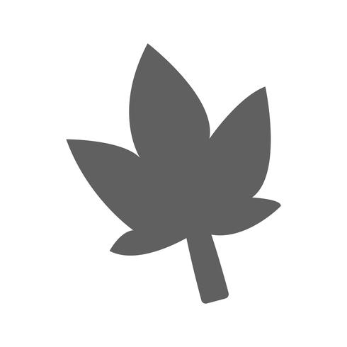 Vector icono de hoja de palma