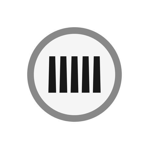 Vector Zebra Crossing Icon